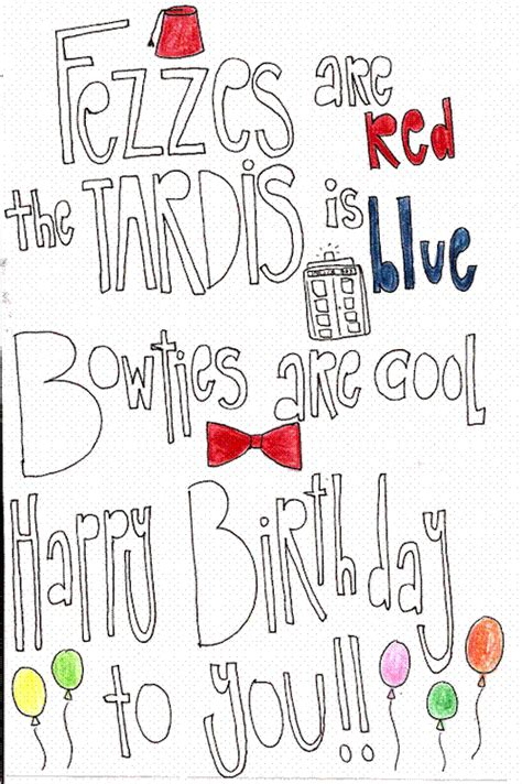 printable birthday cards dr who doctor who birthday card tumblr