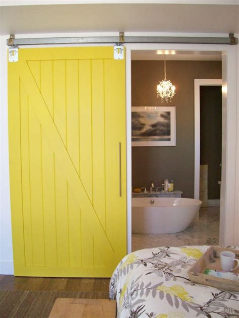 Yellow Barn Door 15 Ways In Which You Could Creatively Use Barn Door In Home