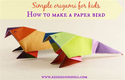 Make A Paper Bird - simple origami for how to make a paper bird
