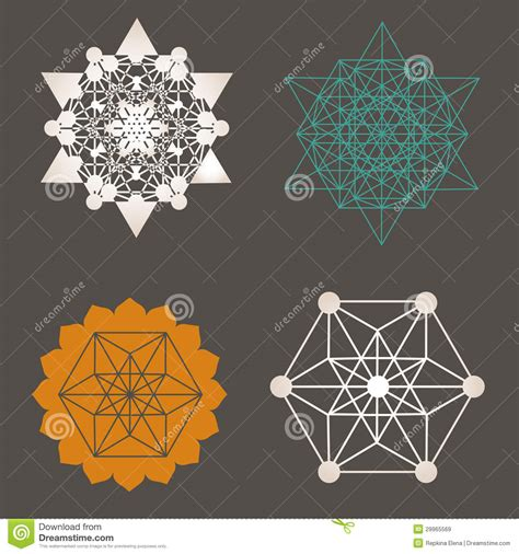 unique designs sacred geometry unique design collection stock vector