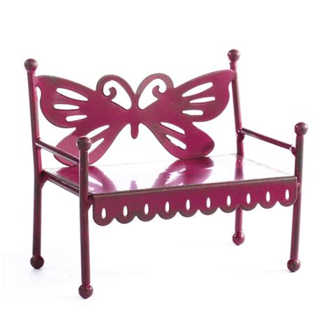 metal butterfly bench rustic metal butterfly bench what s new dollhouse