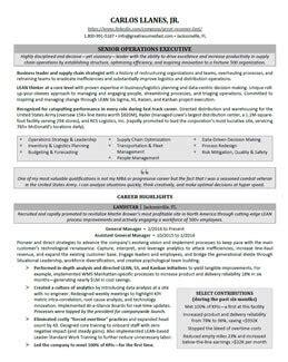 executive resume format 2018 executive resume sles professional resume sles