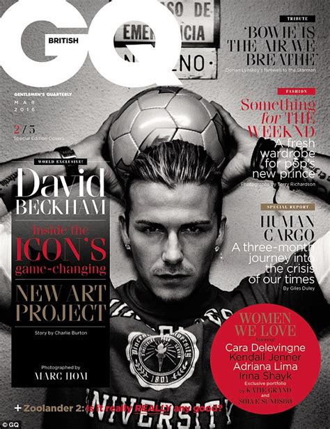 Beckham Is Magazines Of The Year by David Beckham S Is Celebrated By Gq Magazine Daily