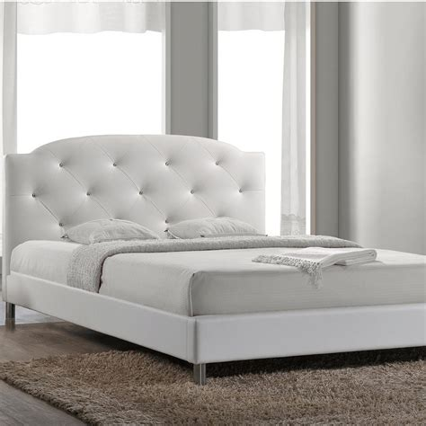 white upholstered queen bed white upholstered bed cambridge upholstered bed with