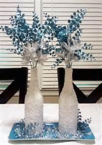 How To Make Winter Wonderland Decorations - monica s creative crafts winter wonderland wine bottles