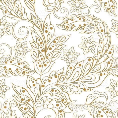 indian pattern background vector vintage pattern in indian batic style floral vector