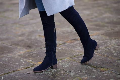 the navy knee high boots raindrops of sapphire