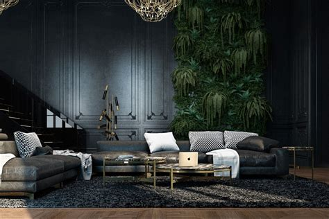 Black And Gold Interior by Beautiful Black Interior Showcased In A Historic