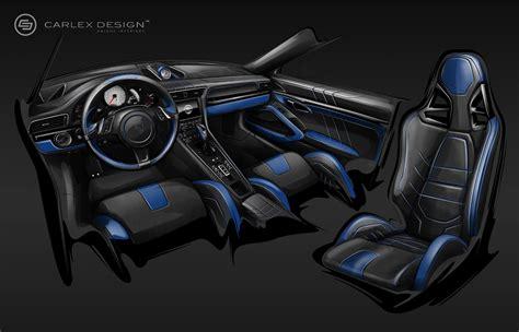 porsche electric interior porsche 911 gets electric blue interior by carlex design