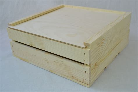 wholesale wood wholesale wooden crate with sliding lid 11 x 11 x 4 qty
