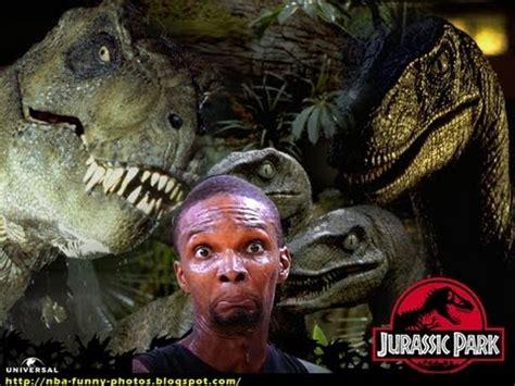 Chris Bosh Dinosaur Meme - chris bosh cast to play in jurassic park youtube