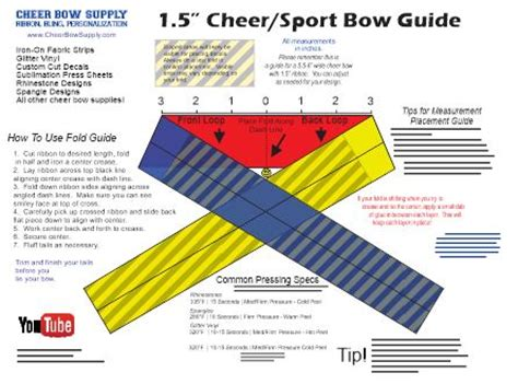 cheer bow template 1 5 quot gymnastics sport bow template mat