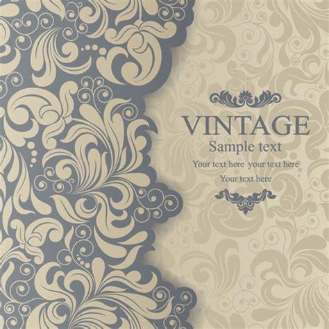 elegant invitations vintage style design vector 02 over