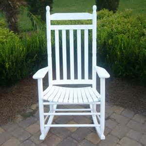 Outdoor white rocking chairs wood rocking chair for adults ships