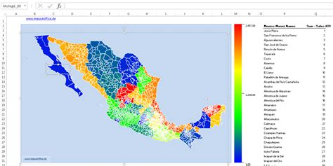 editable us map for excel mexico map powerpoint