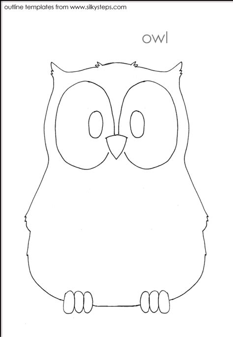 template of owl owl craft template coloring home