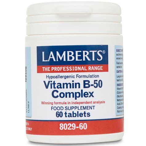 Vitamin B Complex Nutrimax Lamberts Vitamin B 50 Complex B 60 Tablets