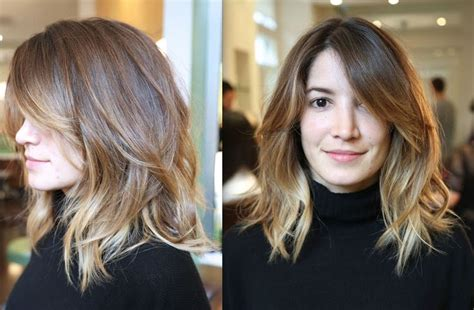 does ombre work with medium layered hair length layered haircuts for shoulder length hair hair world