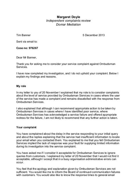 Nyu Decision Letter Sent Independent Assessor Complaint Decision Letter 051213
