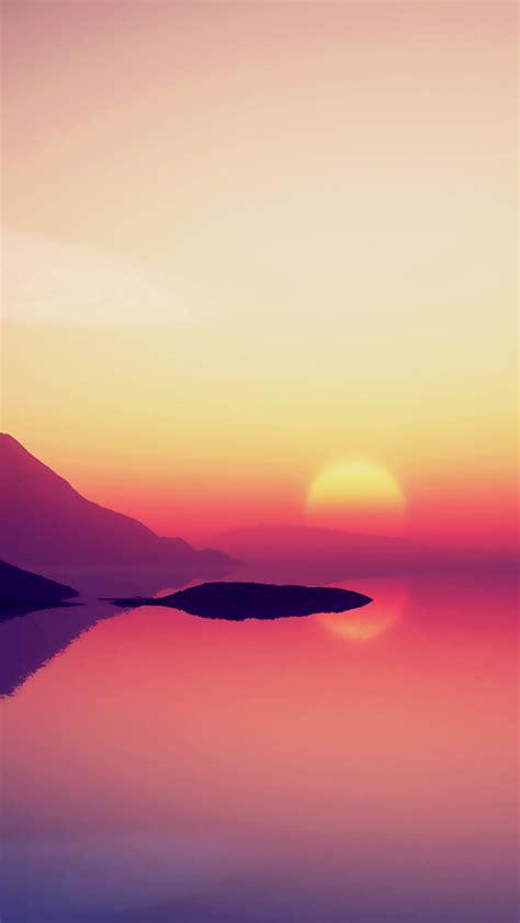 wallpaper for iphone 5 sunset ocean sunset illustration ios7 iphone 5 wallpaper ipod