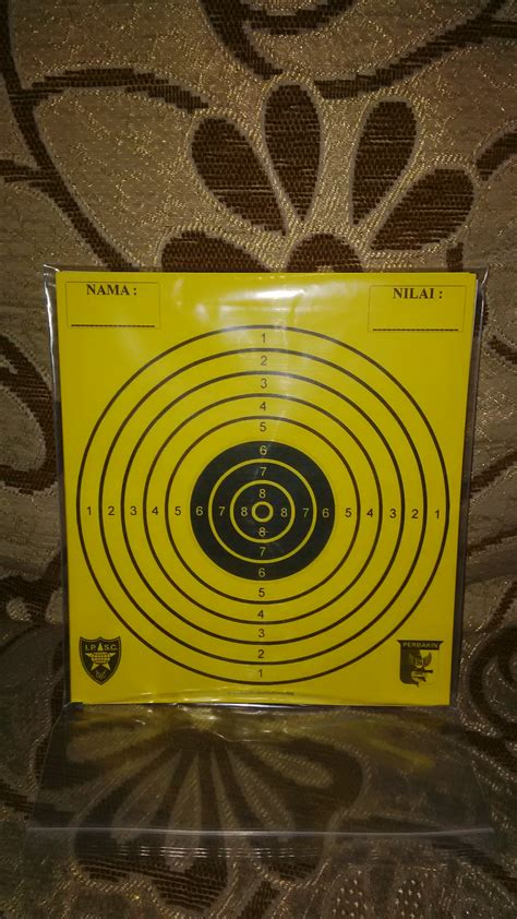 Sasaran Tembak Shooting Target Paper Circle jual kertas target sasaran tembak shooting paper target
