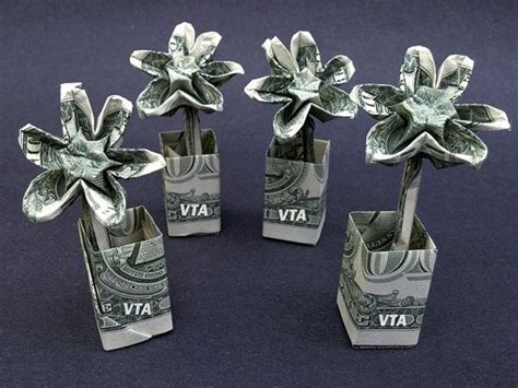 Origami Flower Dollar - 17 best images about money flowers on dollar