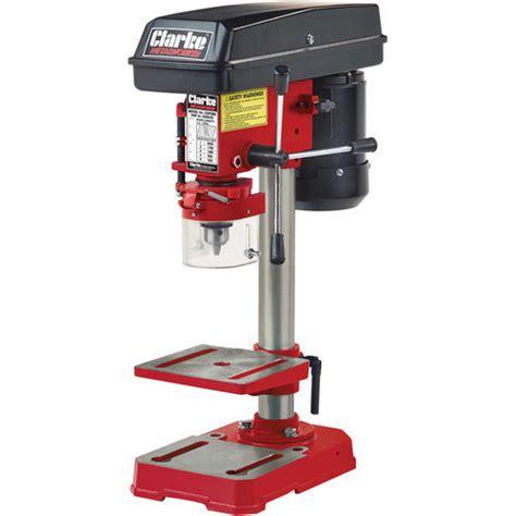 bench pillar drill uk clarke cdp5rb 5 speed bench mounted pillar drill red