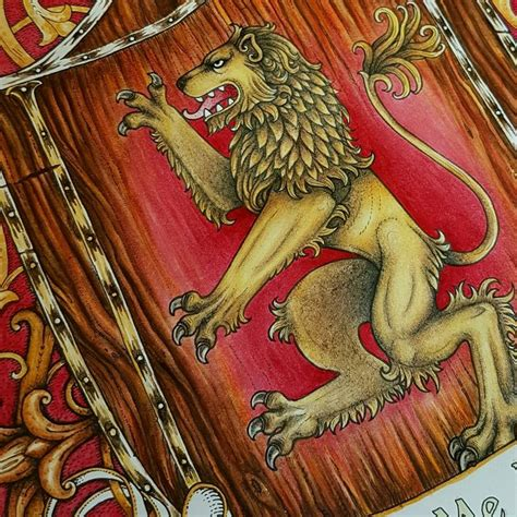 thrones colouring book completed house lanister quot hear me roar quot of thrones coloring