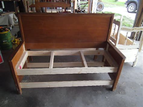 headboard bench with storage full circle creations solid back storage headboard bench