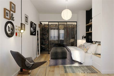 trendy bedroom ideas tiny apartment in black and white charms with space saving design