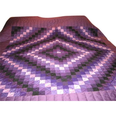 log cabin l shades amish quilt handmade log cabin in shades of purple sold on
