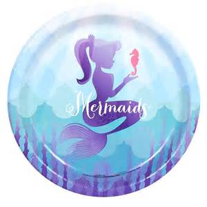 mermaids under the sea dinner plates this party started
