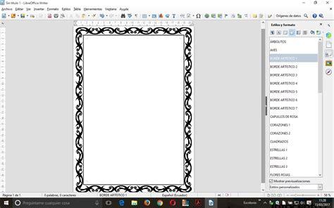 programas para decorar hojas word bordes de p 225 gina art 237 sticos en writer blog de