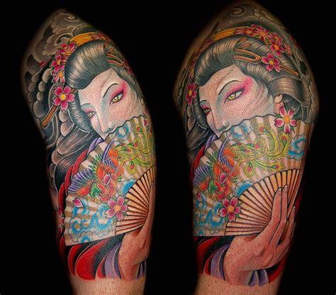 geisha tattoo with fan 27 best hand fan tattoos images on pinterest fan tattoo