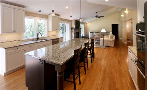 open kitchen floor plans with island share