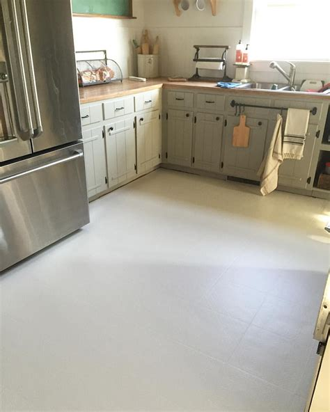 painted linoleum floors farmhouse kitchen remodel little white house blog little white