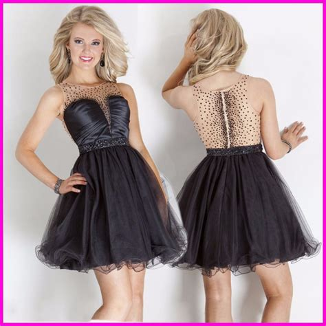 8 Prom Dresses by 2015 Beaded Homecoming Dresses Black Tank 8th Grade