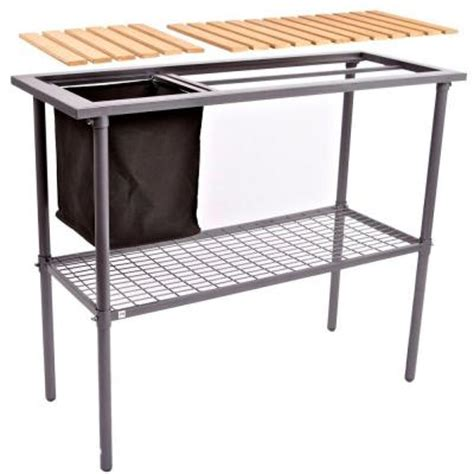 potting benches home depot weatherguard garden and greenhouse composite wood top