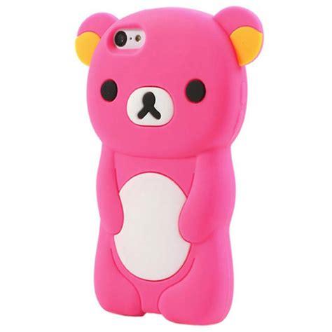 orso custodia  silicone  iphone  rosa neon
