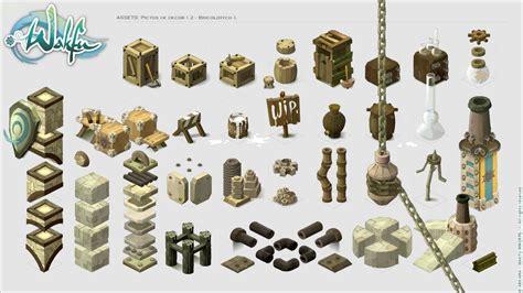 3d Game Design wakfu mmorpg assets pictos 2