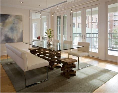 sofas for dining tables comedores modernos para las cenas con mucha clase