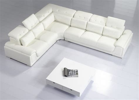 modern sofas and sectionals divani casa t93c modern leather sectional sofa