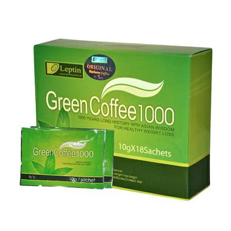 Leptin Coffee 1000 Leptin Green Coffee Kopi Organic Diet Murah Jual Leptin Green Coffee 1000 Original Minuman Serbuk Kopi