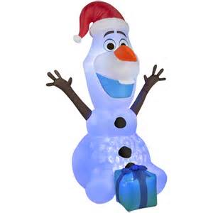 Christmas Inflatable Yard Decorations Shop Gemmy 6 Ft X 3 28 Ft Lighted Olaf Christmas