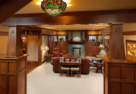 craftsman home interior craftsman home craftsman family room columbus by melaragno design company llc