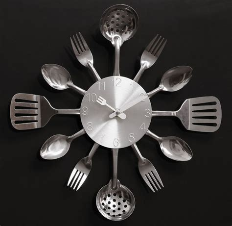 Top Rated Kitchen Knives a002 quartz mute wall clocks knife fork spoon originality