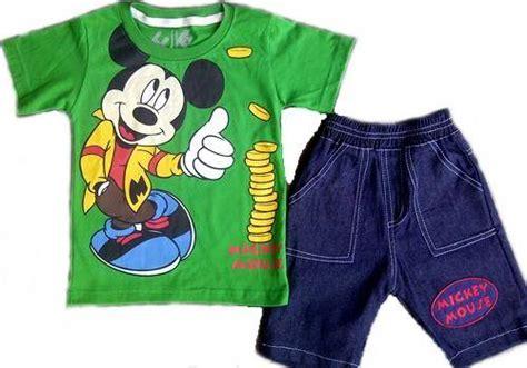 Amena Setelan Anak Motif Mickey dinomarket pasardino baju anak setelan jins karakter