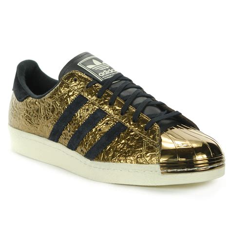 adidas unisex superstar 80 s metal toe gold foil shoes b25033 new ebay