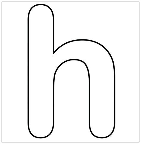 Lowercase Letter H Coloring Page by Letter H Template Preschool Design Templates