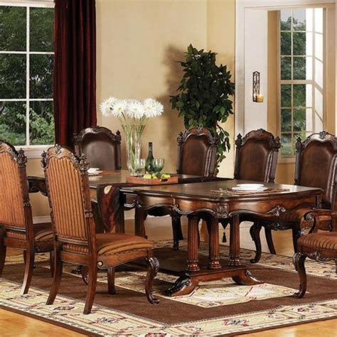 traditional formal dining room furniture acme furniture remington traditional formal dining table